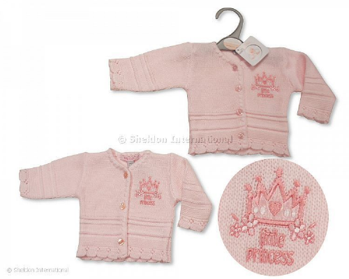 Tiny Baby V-Neck Cardigan - Little Princess